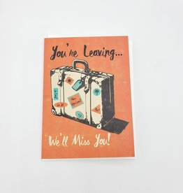 """You're Leaving"" Greeting Card - Rocket 68"
