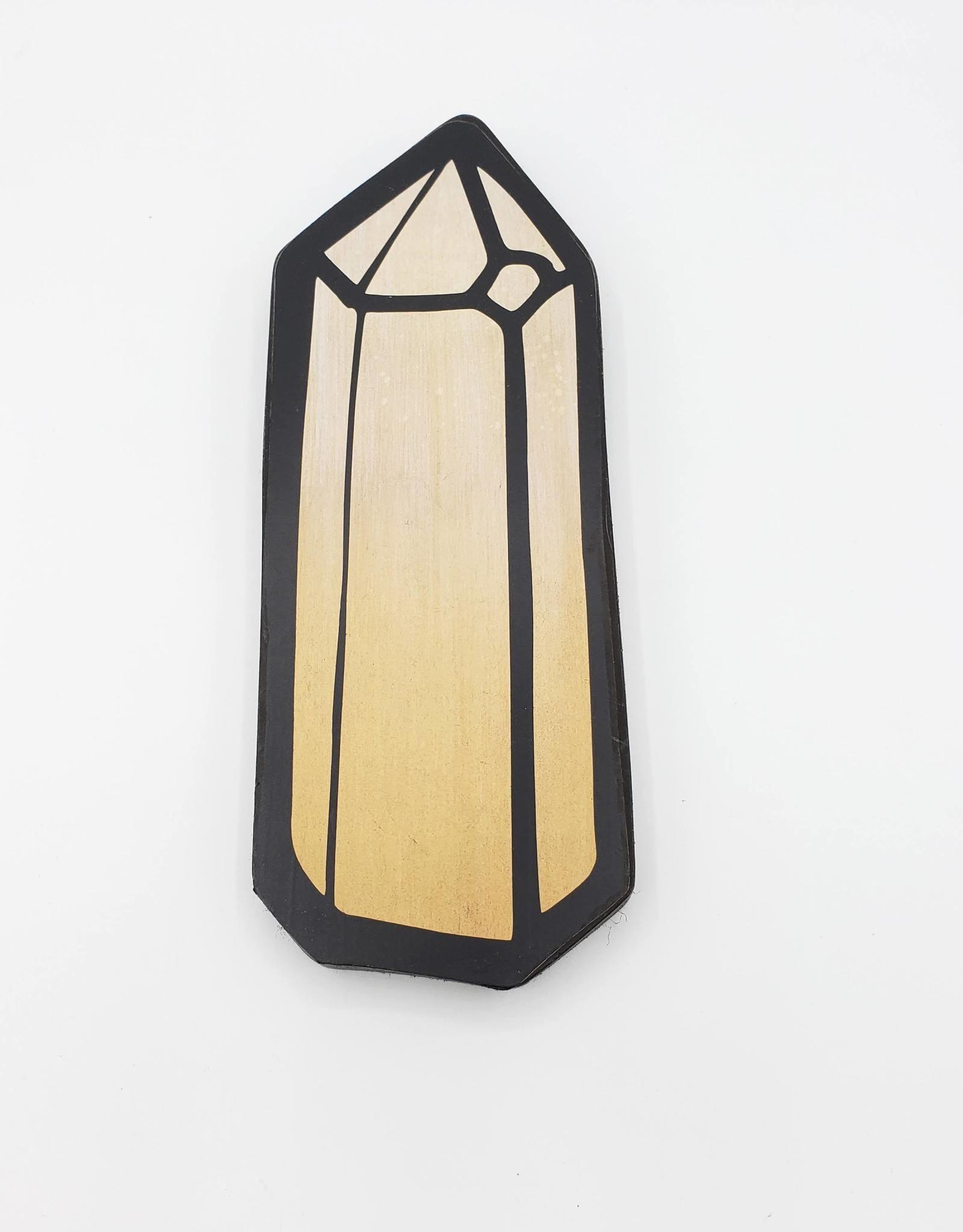 Citrine Obelisk Painting on Wood
