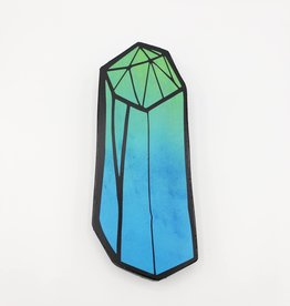 Chalcedony Obelisk Painting on Wood