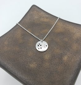 Oh, Hello Friend Constellation Necklace - silver plate