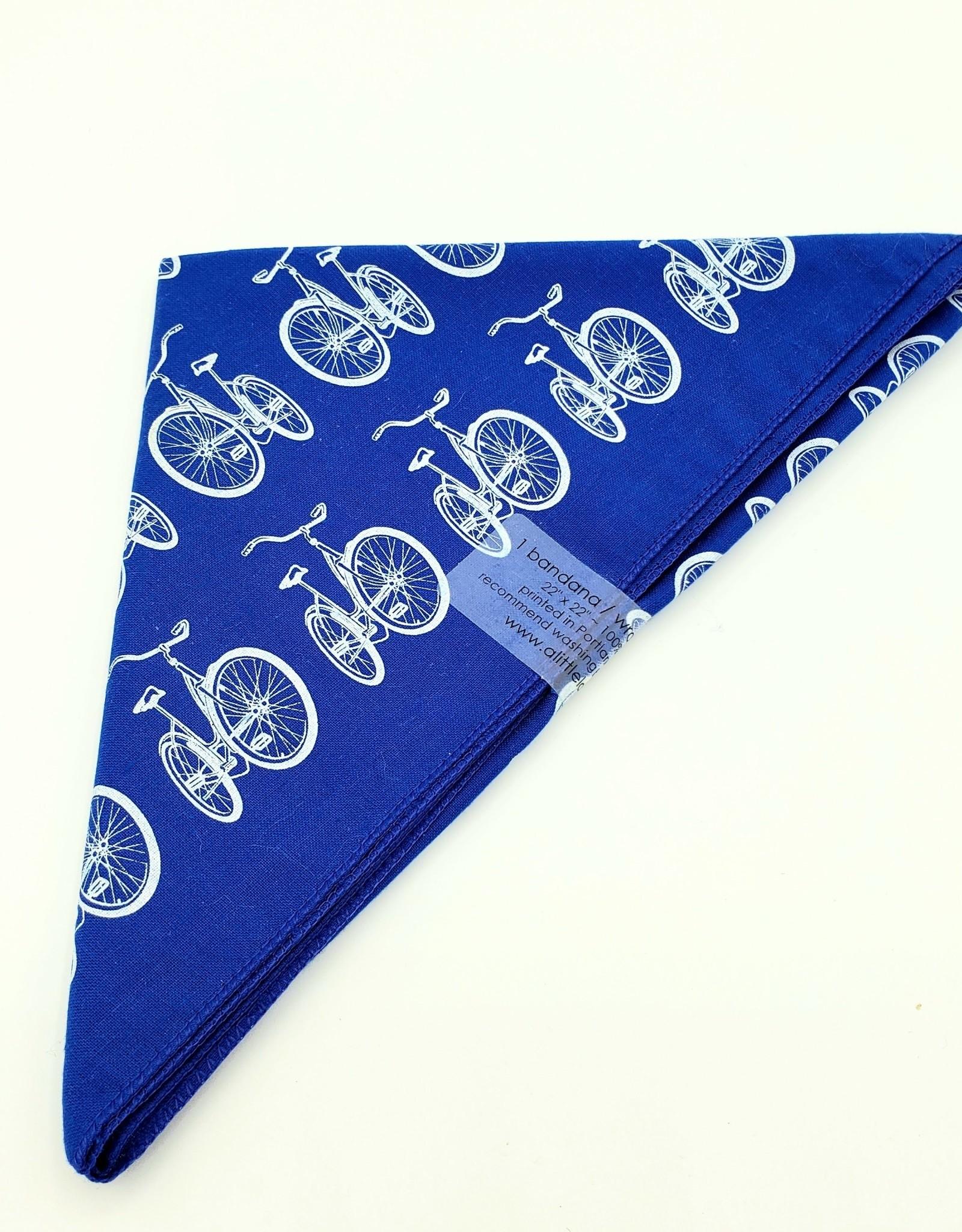 Bicycle Bandana in Blue by Little Lark