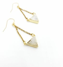 Larissa Loden Druzy Crystal Earrings, White