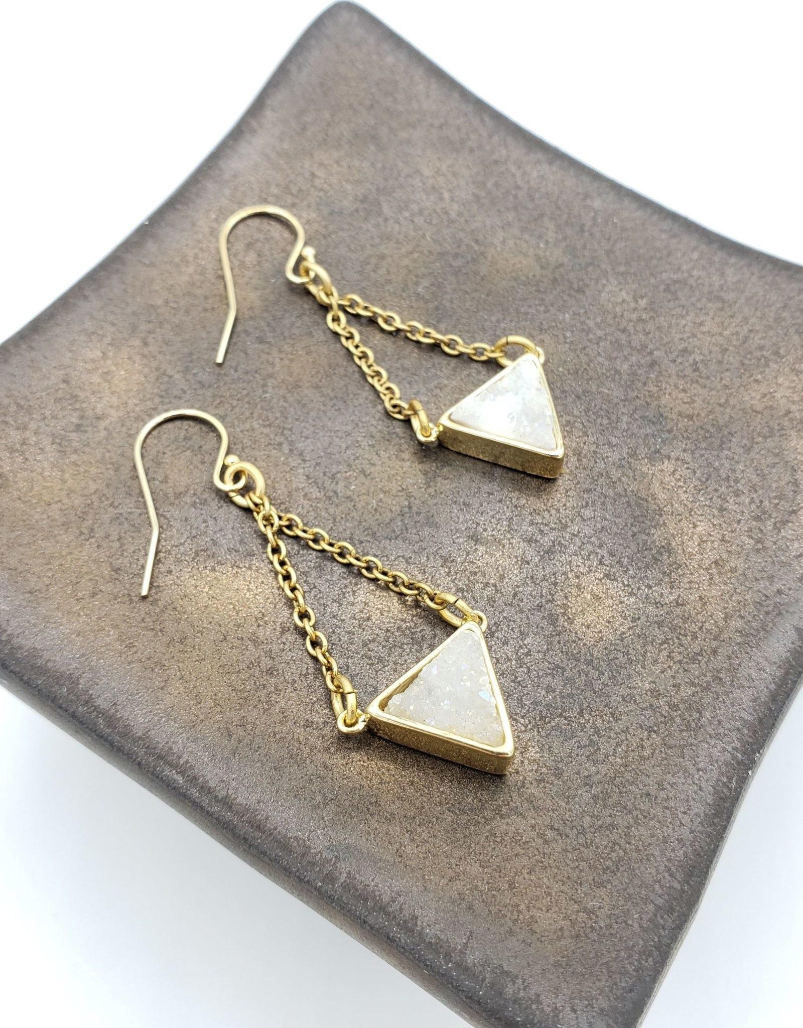 Larissa Loden Druzy Crystal Earrings, White