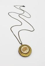 IGNY Accordian Vintage Limoges Musical Oval Locket Necklace