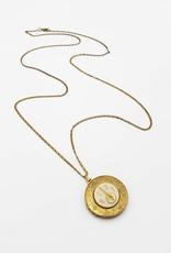 IGNY Lute Vintage Limoges Musical Oval Locket Necklace
