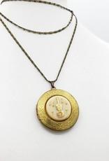 IGNY Violin - Vintage Limoges Musical Oval Locket Necklace