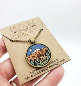 Bloom & Grow Designs Portland at Night Necklace, Painted Wood