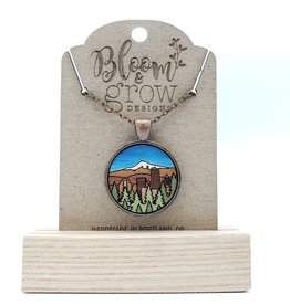 Bloom & Grow Designs Portland by Day Necklace, Painted Wood