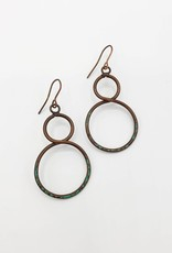 Copper and Patina Infinity Earrings
