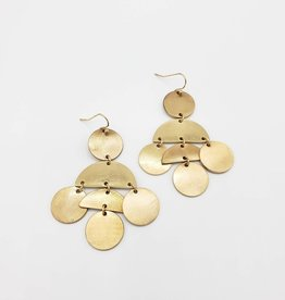 Modern Marvel Gold Geometric Pieces Earrings