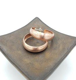 3CM Copper Concave Matte Hoop Earrings