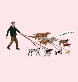 """Thank you"" Dog Walker Greeting Card - Becca Stadtlander"