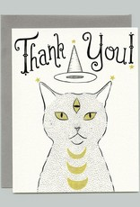 """Bee's Knees Industries """"Thank You"""" Witch Cat Greeting Card - Bee's Knees"""
