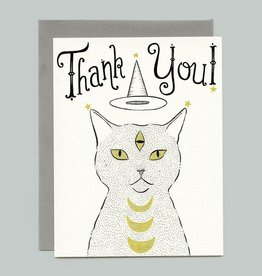 "Bee's Knees Industries ""Thank You"" Witch Cat Greeting Card - Bee's Knees"