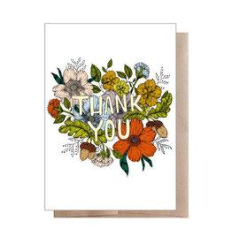 """Marika Paz """"Thank You"""" Floral Greeting Card - Marika Paz"""