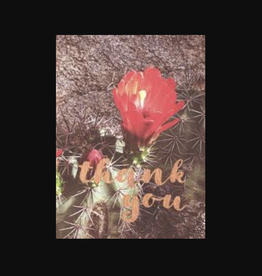 """Thank You"" Cactus Greeting Card - Lark Press"