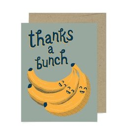 "Allison Cole ""Thanks a Bunch"" Bananas Greeting Card by Allison Cole"