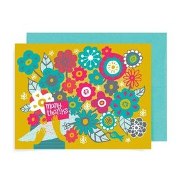 """Many Thanks Bouquet"" Greeting Card by Allison Cole"