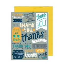 """Thank You Banners"" Greeting Card by Allison Cole"