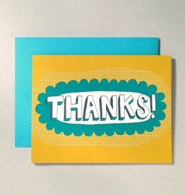 """Thanks!"" Greeting Card by Allison Cole"