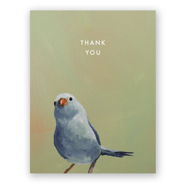 "Mincing Mockingbird ""Blue Bird"" Thank You Greeting Card - The Mincing Mockingbird"