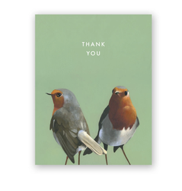 "Mincing Mockingbird ""European Robin"" Thank You Greeting Card - The Mincing Mockingbird"
