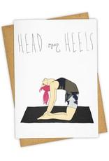"""""""Head Over Heels"""" Greeting Card - Tay Ham"""