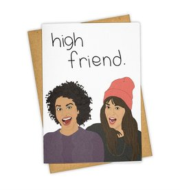 """High Friend"" Greeting Card - Tay Ham"