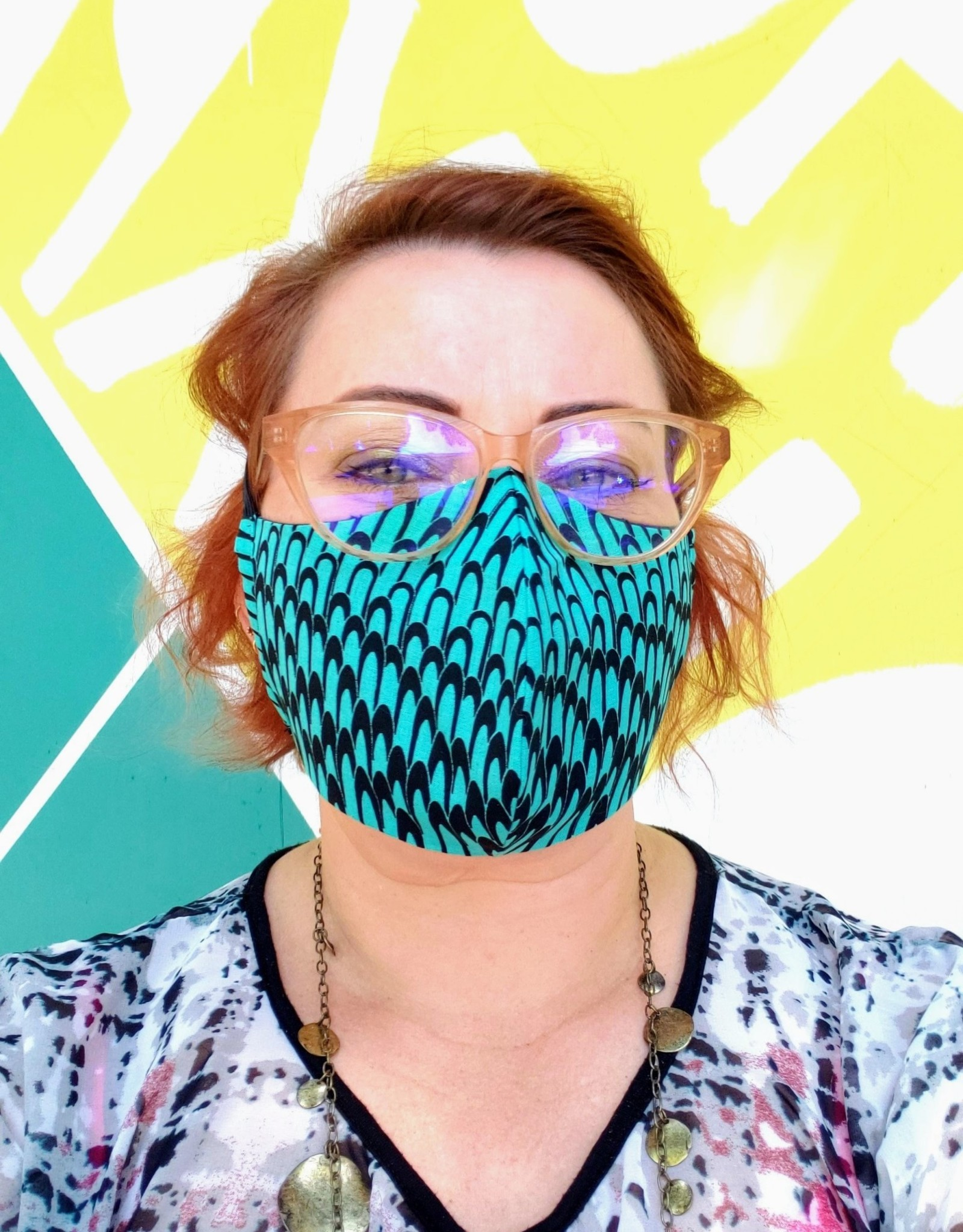 Redux Mermaid Mask - Handmade Fabric Face Mask