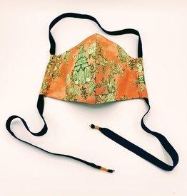 Redux Pagoda Mask - Handmade Fabric Face Mask