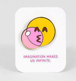 ''Imagination Makes Us Infinite'' Enamel Pin - Buy Olympia