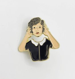 Headless Woman Enamel Pin by Badaboom