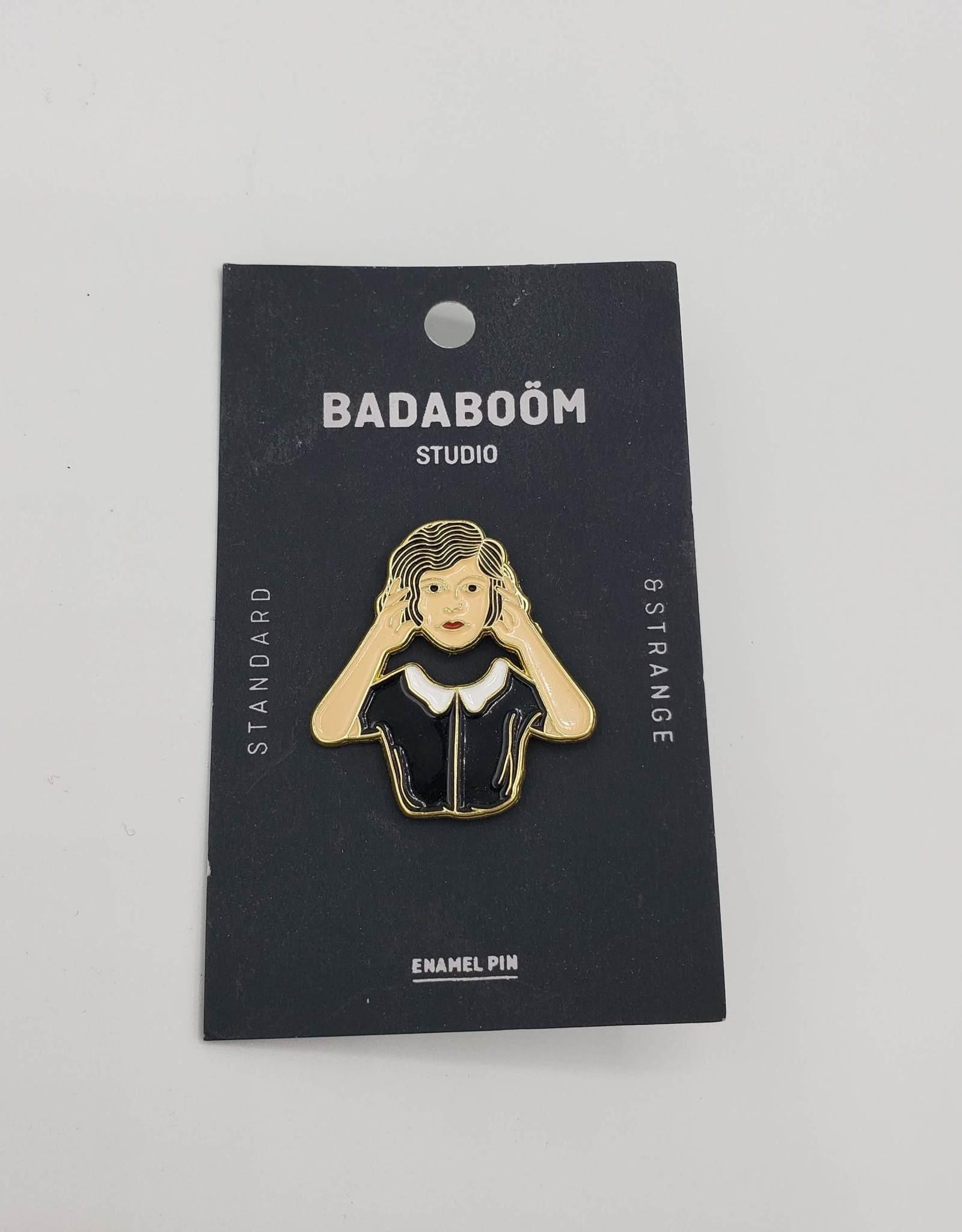 Headless Woman Enamel Pin by Badaboom