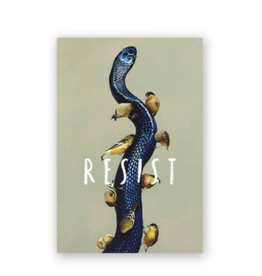 Mincing Mockingbird Resist Magnet by the Mincing Mockingbird