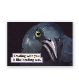 Mincing Mockingbird Herding Cats Magnet by the Mincing Mockingbird