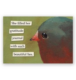 Mincing Mockingbird Gratitude Journal Magnet by the Mincing Mockingbird