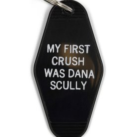 """My First Crush Was Dana Scully"" Classic Motel Keychain - by Bullish"