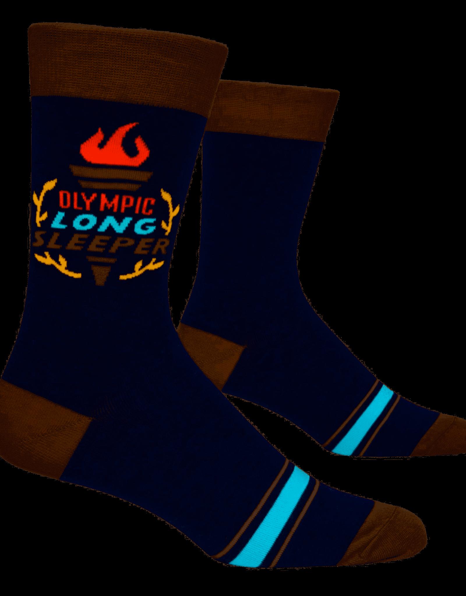 "Blue Q ""Olympic Long Sleeper"" Men's Crew Socks"