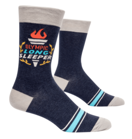 "Blue Q ""Olympic Long Sleeper"" Men's Crew Socks"