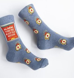"Blue Q ""Alarm, You're A Little Bitch"" Men's Crew Socks"