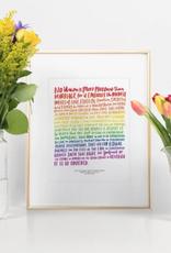Emily McDowell Love Wins Print; Emily McDowell