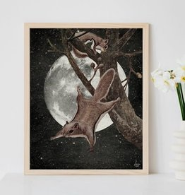 "Flying Squirrels in the Moonlight 8"" x 10"" Print; The Galek Sea"