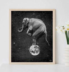 "Elephant Balancing on the Moon 8"" x 10"" Print; The Galek Sea"