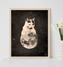 "Cat Balancing on the Moon 8"" x 10"" Print; The Galek Sea"