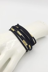 Mata Traders Suede Cord Bracelet Black