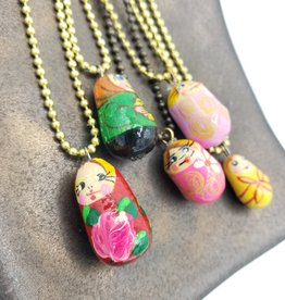 Russian Matroyshka Necklace