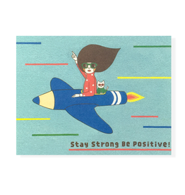 """Stay Strong Be Positive"" Sympathy Greeting Card - Naoshi"