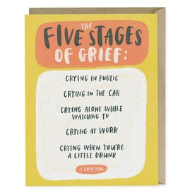 "Emily McDowell ""Five Stages of Grief"" Sympathy Greeting Card - Emily McDowell"
