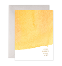 """After Darkness Comes Light"" Sympathy Greeting Card - E. Frances Paper"