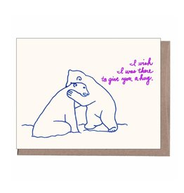 """I Wish I Was There to Give You a Hug"" Sympathy Greeting Card - La Familia Green"